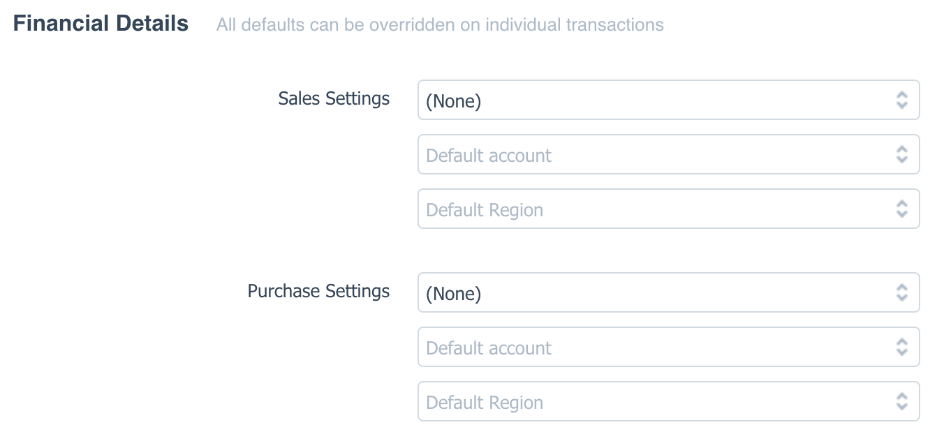 Setting Contact Defaults in Xero
